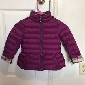 Burberry puffer  jacket size 6y